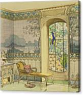 Design For A Bathroom, From Interieurs Canvas Print