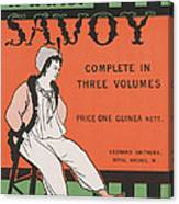 Design For The Front Cover Of 'the Savoy Complete In Three Volumes' Canvas Print