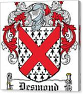 Desmond Coat Of Arms Irish Canvas Print