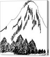 Desolation Peak_alone Time Canvas Print