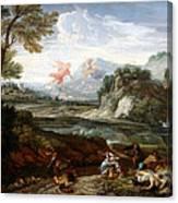 Destruction Of Niobes Children Canvas Print