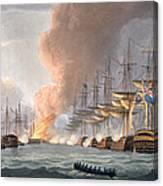 Destruction Of The Danish Fleet Canvas Print