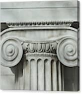 Detail an ionic column Canvas Print