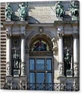 Detail City Hall Hamburg II Canvas Print