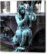 Detail Fountain City Hall  Hamburg Canvas Print