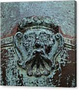 Detail Of A Bronze Mortar Canvas Print