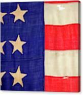 Detail Of A Civil War Flag In Drummer Canvas Print