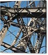 Detail Of Ferris Wheel At Vienna Prater Canvas Print