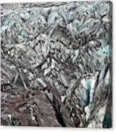 Detail Of Icelandic Glacier Canvas Print
