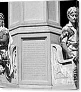 Detail Of Monument Statues - Bw Canvas Print
