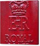 Detail Of Old Royak Mail Post Box Canvas Print