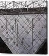 Detail Of Pei Pyramid At Louvre Paris France Canvas Print