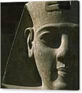 Detail Of Pharaoh Head At Entrance Canvas Print