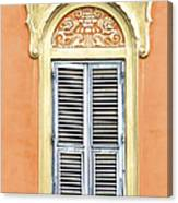 Detailed Window Of Rome Canvas Print