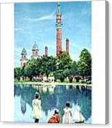 Detroit - Gladwin Waterworks Park - Jefferson Avenue At The Detroit River - 1905 Canvas Print
