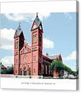 Detroit - Sheridan Avenue - St Anthony Catholic Church - 1910 Canvas Print