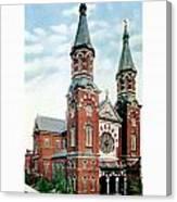 Detroit - St Mary Catholic Church - Monroe Avenue - 1910 Canvas Print