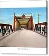 Detroit - The Belle Isle Bridge - 1908 Canvas Print