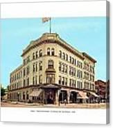 Detroit - The Cadillac Hotel - Cadillac Boulevard And Michigan Avenue - 1918 Canvas Print