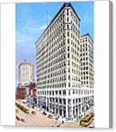 Detroit - The Lafayette Building - Michigan Avenue Lafayette And Shelby Streets - 1924 Canvas Print