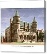 Detroit - The Museum Of Art - Jefferson Avenue At Hastings Street - 1905 Canvas Print