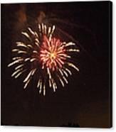 Detroit Area Fireworks -1 Canvas Print