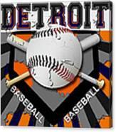 Detroit Baseball  Canvas Print