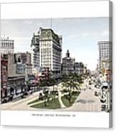Detroit - Cadillac Square - 1905 Canvas Print