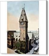 Detroit - Michigan Central Railroad Depot - Jefferson Avenue - 1900 Canvas Print