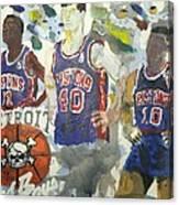 Detroit Pistons Bad Boys  Canvas Print