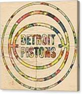 Detroit Pistons Vintage Logo Canvas Print