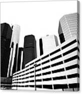 Detroit Ren Cen Canvas Print