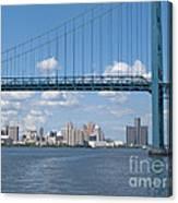 Detroit River Crossing Canvas Print