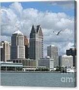 Detroit Riverfront Canvas Print