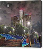 Detroit Riverwalk Canvas Print