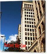 Detroit Sky Line Canvas Print
