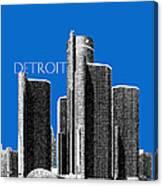 Detroit Skyline 1 - Blue Canvas Print