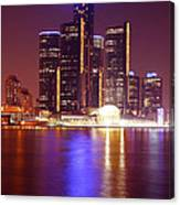 Detroit Skyline 5 Canvas Print