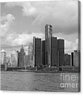 Detroit Skyscape Canvas Print