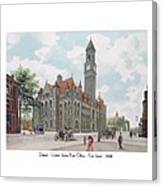 Detroit - United States Post Office - Fort Street - 1908 Canvas Print