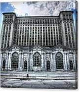 Detroit's Abandoned Michigan Central Train Station Depot Canvas Print