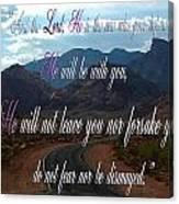 Deuteronomy 31 Verse 8 Canvas Print