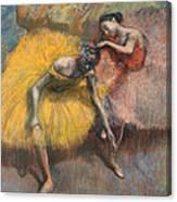 Deux Danseuses Jaunes Et Roses Canvas Print