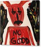 devil with NO GOOD tee shirt Canvas Print