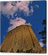 Devils Tower As A Volcano Canvas Print