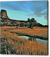 Devils Tower Daybreak Canvas Print