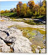Devonian Fossil Gorge Coralville Lake Ia 1 Canvas Print