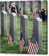 Dfw National Cemetery Canvas Print