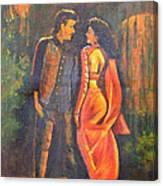 Dhak Dhak Canvas Print