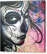 Dia De Los Muertos Chica Canvas Print